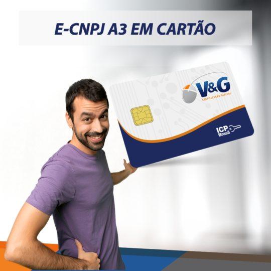 E-CNPJ A3 EM CARTÃO INTELIGENTE