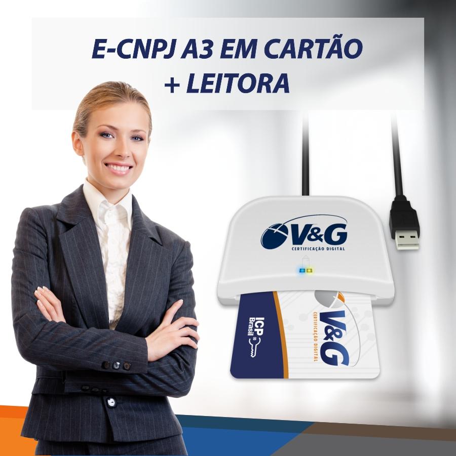 E-CNPJ A3 EM CARTÃO INTELIGENTE + LEITORA