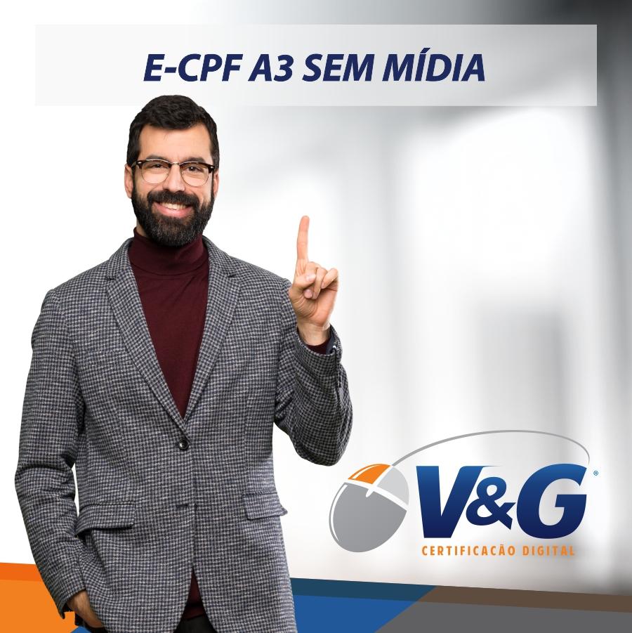 E-CPF A3 SEM MÍDIA